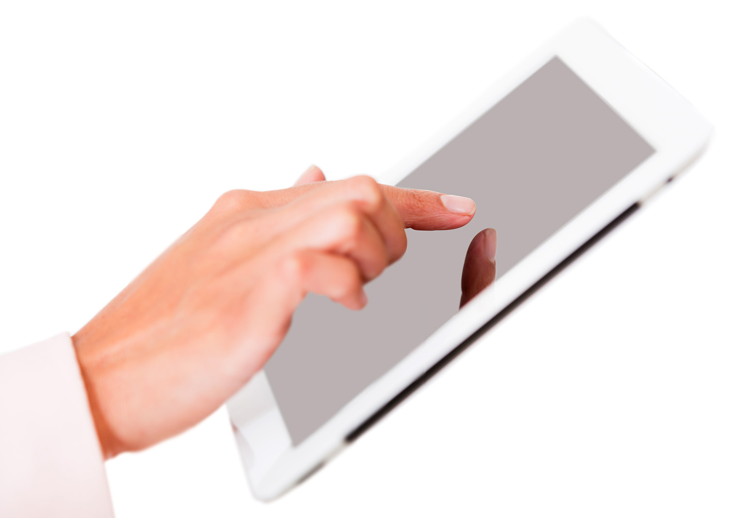 Using a tablet computer